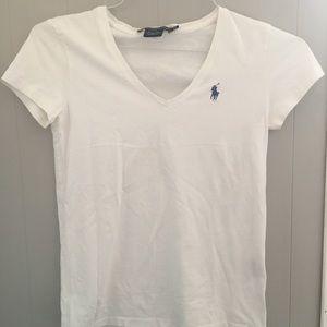 White V-Neck from Polo